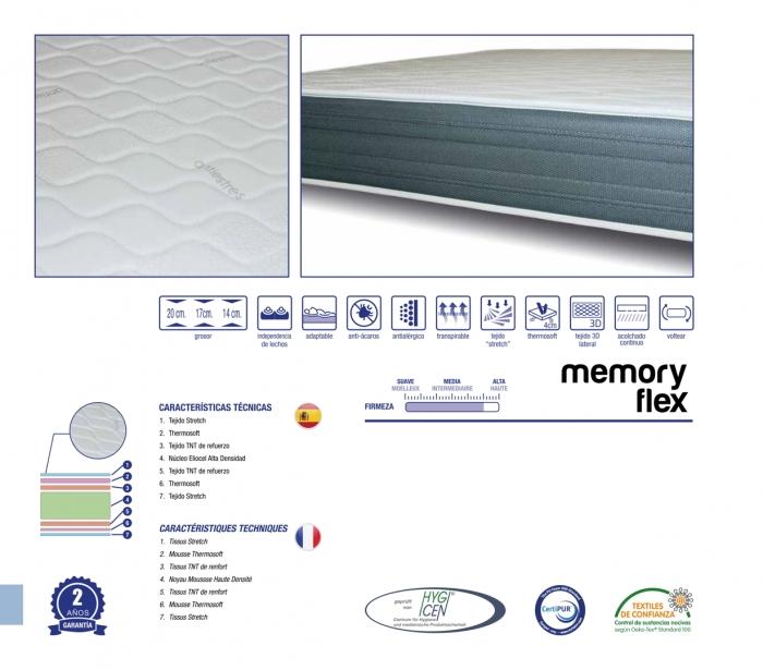 colchones randor flexibles memory flex