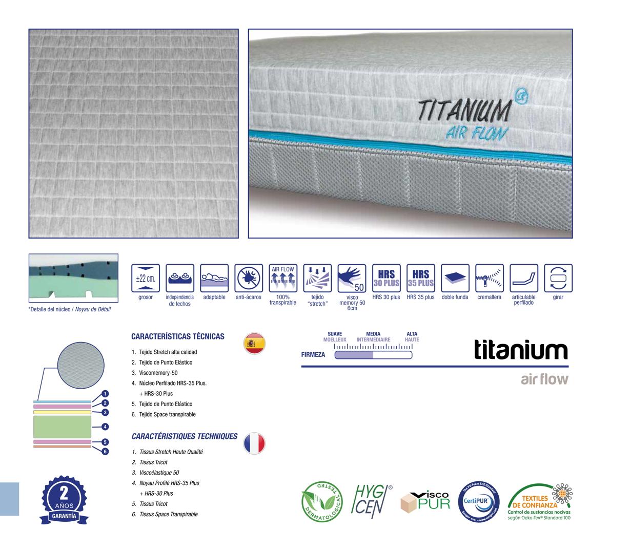 colchones randor flexibles titanium air flow